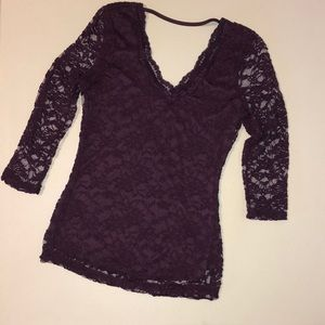 3/$20 Almost Famous Lace Top